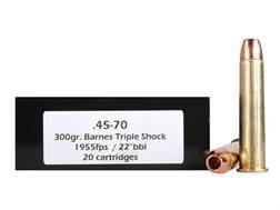 Doubletap Ammunition 45-70 Government 300 Grain Barnes Triple-Shock X Bullet Box of 20