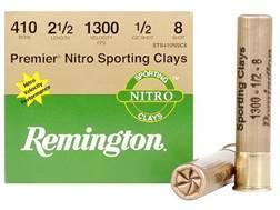"Remington Premier Nitro Gold Sporting Clays Ammunition 410 Bore 2-1/2"" 1/2 oz #8 Shot"