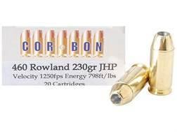 Cor-Bon Hunter Ammunition 460 Rowland 230 Grain Jacketed Hollow Point Box of 20
