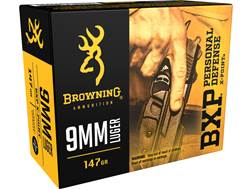 Browning BXP Personal Defense Ammunition 9mm Luger 147 Grain X-Point