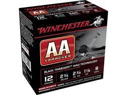 """Winchester AA Light TrAAcker Ammunition 12 Gauge 2-3/4"""" 1-1/8 oz #8 Shot Black Wad"""