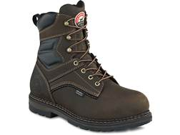 "Irish Setter Ramsey 8"" Waterproof Uninsulated Aluminum Toe Work Boots Leather Brown Men's"
