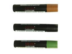 MOJO Camo Roller Pen 3-Pack Face Paint Black, Brown and Green