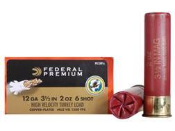 "Federal Premium Mag-Shok Turkey Ammunition 12 Gauge 3-1/2"" 2 oz #6 Copper Plated Shot High Velocity Box of 10"