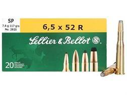 Sellier & Bellot Ammunition 6.5x52mm Rimmed (25-35 WCF) 117 Grain Soft Point Box of 20