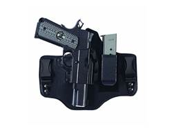 Galco KingTuk 2 Tuckable Inside the Waistband Holster Right Hand 1911 Government, Commander Leather and Kydex Black