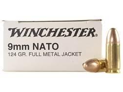 Winchester NATO Ammunition 9mm Luger 124 Grain Full Metal Jacket
