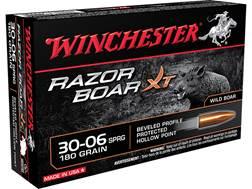 Winchester Razorback XT Ammunition 30-06 Springfield 180 Grain Hollow Point Lead-Free
