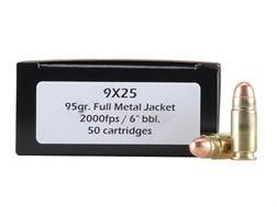 Doubletap Ammunition 9x25mm Dillon 95 Grain Full Metal Jacket