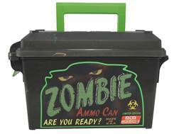 MTM Limited Edition Zombie Ammunition Can Tall 30 Caliber Plastic Black
