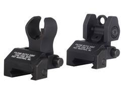 Troy Industries Micro Flip-Up Battle Sight Set HK-Style Front & Standard Rear AR-15 Black