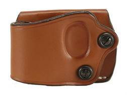 DeSantis Yaqui Slide Belt Holster Left Hand Large Frame Single Action Semi-Automatic Leather Tan