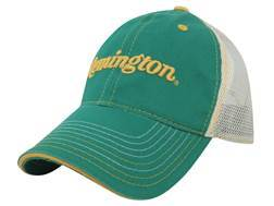 Remington Mesh Logo Cap Cotton and Polyester Green and White