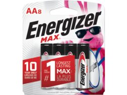 Energizer Battery AA Max 1.5 Volt Alkaline Pack of 8