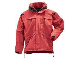 5.11 Men's 3-in-1 Tactical Parka Waterproof Nylon Shell, Windproof Polyester Fleece Liner Range Red 4XL