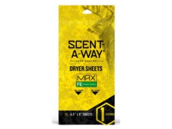 Hunter's Specialties Scent-A-Way MAX Scent Elimination Dryer Sheets Pack of 15