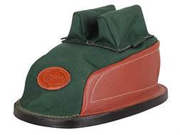 Edgewood Minigater Rear Shooting Rest Bag Tall with Regular Ears and Regular Stitch Width Leather and Nylon Green Unfilled