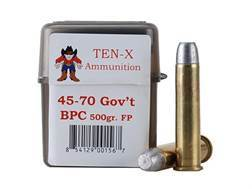 Ten-X Cowboy Ammunition 45-70 Government 500 Grain Flat Point BPC Box of 20
