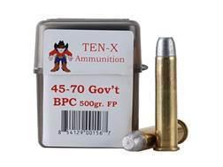 Ten-X Cowboy Ammunition 45-70 Government 500 Grain Flat Point BPC Box of 20