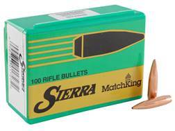 Sierra MatchKing Bullets 264 Caliber, 6.5mm (264 Diameter) 123 Grain Hollow Point Boat Tail Box of 100