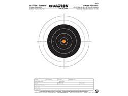 "Champion Re-Stick 50 Yard Smallbore Self-Adhesive Targets 8.5"" x 11"" Paper Pack of 25"