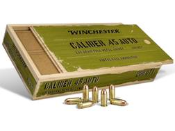 Winchester Military Service Grade Ammunition 45 ACP 230 Grain Full Metal Jacket Wood Box of 200 (4 Boxes of 50)