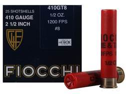 "Fiocchi Dove & Target Ammunition 410 Bore 2-1/2"" 1/2 oz #8 Shot Box of 25"