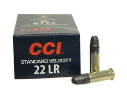 CCI Standard Velocity Ammunition 22 Long Rifle 40 Grain Lead Round Nose Box of 500 (10 Boxes of 50)