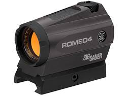 Sig Sauer Romeo 4C Red Dot Sight 1x 20mm 1/2 MOA Adjustments 2 MOA Dot with Circle Reticle Solar/...
