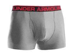 "Under Armour Men's 3"" Original BoxerJock Underwear Synthetic Blend Heather Gray 2XL 42-44"