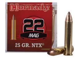 Hornady Ammunition 22 Winchester Magnum Rimfire (WMR) 25 Grain NTX Lead-Free Box of 50