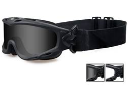 Wiley X Spear Tactical Goggles Smoke Grey and Clear Lens