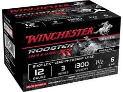 "Winchester Rooster XR Pheasant Ammunition 12 Gauge 3"" 1-1/2 oz #6 Shot-Lok Copper Plated Shot"