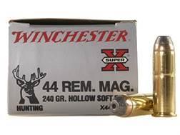 Winchester Super-X Ammunition 44 Remington Magnum 240 Grain Hollow Soft Point