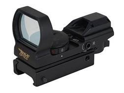 BSA Pano Reflex Red Dot Sight Red and Green 4 Reticle (3 MOA Dot, Crosshair, 10 MOA Dot Crosshair and 65 MOA Circle with 3 MOA Dot) with Weaver-Style Mount Matte