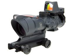 Trijicon ACOG TA31-RMR BAC Rifle Scope 4x 32mm Dual-Illuminated Crosshair 223 Remington Reticle with 3.25 MOA RMR Red Dot Sight and TA51 Flattop Mount Cerakote Sniper Gray
