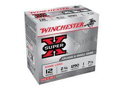"Winchester Super-X Game Load Ammunition 12 Gauge 2-3/4"" 1 oz #7-1/2 Shot"