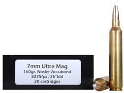 Doubletap Ammunition 7mm Remington Ultra Magnum 160 Grain Nosler AccuBond Spitzer Boat Tail Box of 20