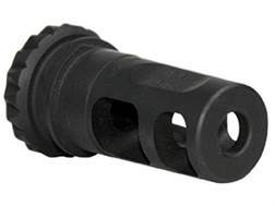 "Advanced Armament Co (AAC) Blackout Muzzle Brake 18-Tooth Spring Suppressor Mount 7.62mm AR-10, LR-308 5/8""-24 Thread Steel Matte"