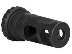 "Advanced Armament Co (AAC) Blackout Muzzle Brake 18-Tooth Spring Suppressor Mount 7.62mm AR-10, LR-308 5/8""-24 Thread Steel Matte"
