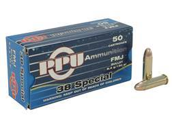 Prvi Partizan Ammunition 38 Special 130 Grain Full Metal Jacket Box of 50