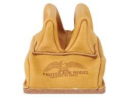 Protektor Rabbit Ear Rear Shooting Rest Bag with Heavy Bottom Leather Tan Unfilled