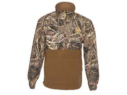 Hard Core Men's Backwoods Half Zip Jacket Polyester Fleece Realtree Max-5 Camo Large