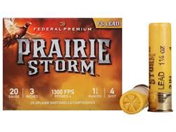 "Federal Premium Prairie Storm Ammunition 20 Gauge 3"" 1-1/4 oz #4 Plated Shot Box of 25"