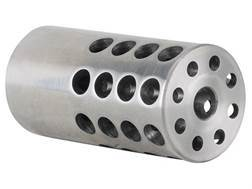 "Vais Muzzle Brake 1"" 243 Caliber, 6mm 11/16""-24 Thread 1"" Outside Diameter x 2"" Length Stainless Steel"