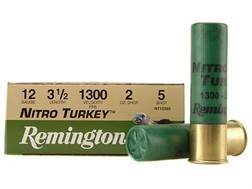 "Remington Nitro Turkey Ammunition 12 Gauge 3-1/2"" 2 oz of #5 Buffered Shot Box of 10"