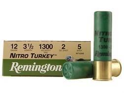 "Remington Nitro Turkey Ammunition 12 Gauge 3-1/2"" 2 oz of #5 Buffered Shot Box of 10"
