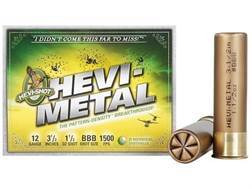 "Hevi-Shot Hevi-Metal Waterfowl Ammunition 12 Gauge 3-1/2"" 1-1/2 oz BBB Hevi-Metal Non-Toxic Box of 25"