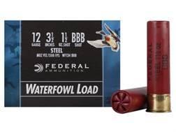 "Federal Speed-Shok Waterfowl Ammunition 12 Gauge 3-1/2"" 1-1/2 oz BBB Non-Toxic Steel Shot"