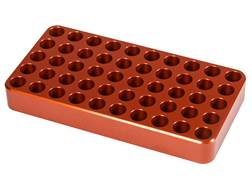 Lyman Aluminum Reloading Tray 0.485 Hole Diameter 22-250 Remington, 308 Winchester, 30-06 Springfield 50-Round Orange